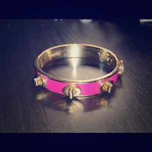 Coach Magenta and Gold hinged bangle bracelet